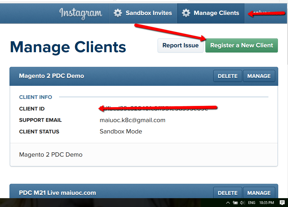 How to enable Instagram on PDC for Magento 2