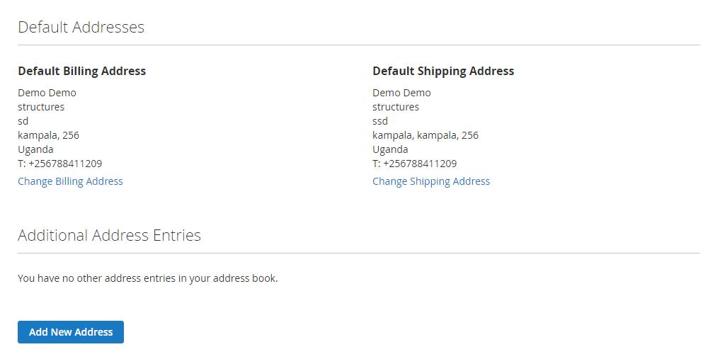 Address Book - Magento 2 Multi Vendor Marketplace Theme