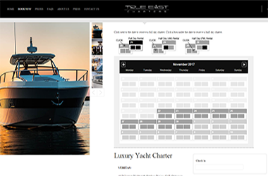 Magento 2 Booking for Trueeast charters