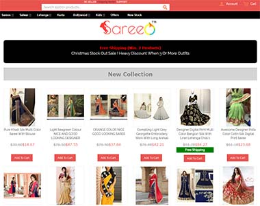 Magento checkout on sareeo.clothing