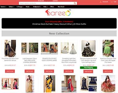 Magento checkout on sareeo.clothing
