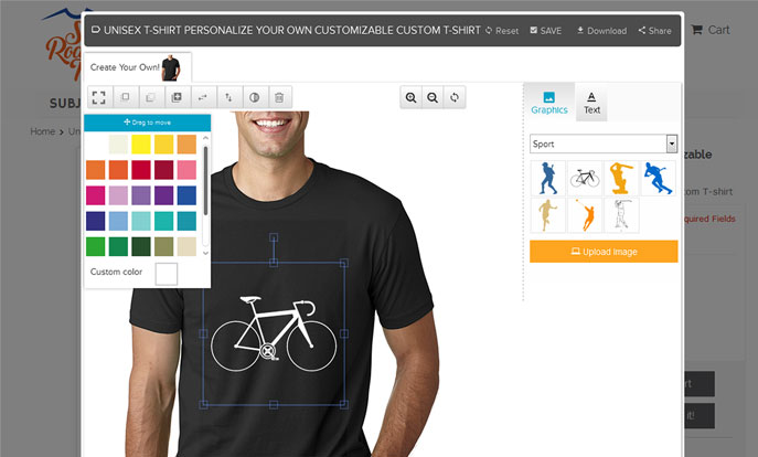 Magento tees Designer tools
