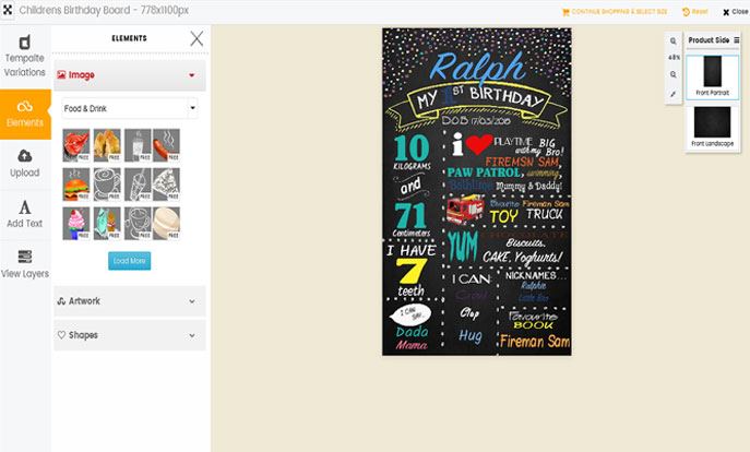 Magento HTML5 Boảd Designer