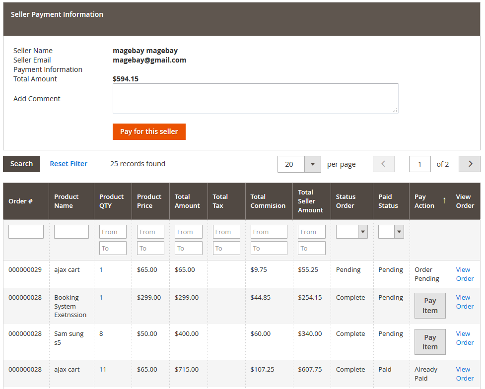Magento Multi Vendor Marketplace Extension